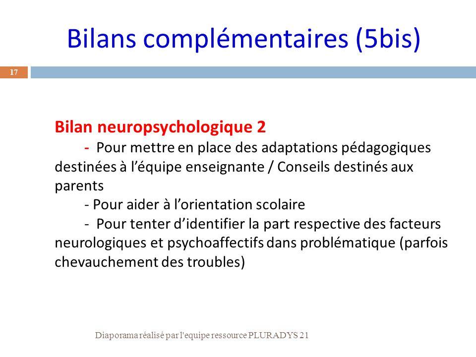Bilans complémentaires (5bis)