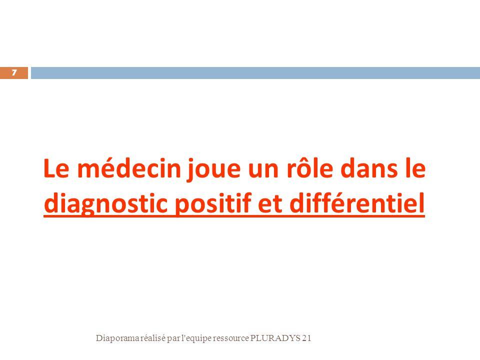 Le médecin joue un rôle dans le diagnostic positif et différentiel
