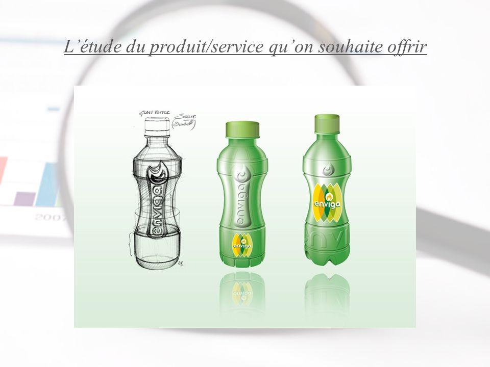L'étude du produit/service qu'on souhaite offrir