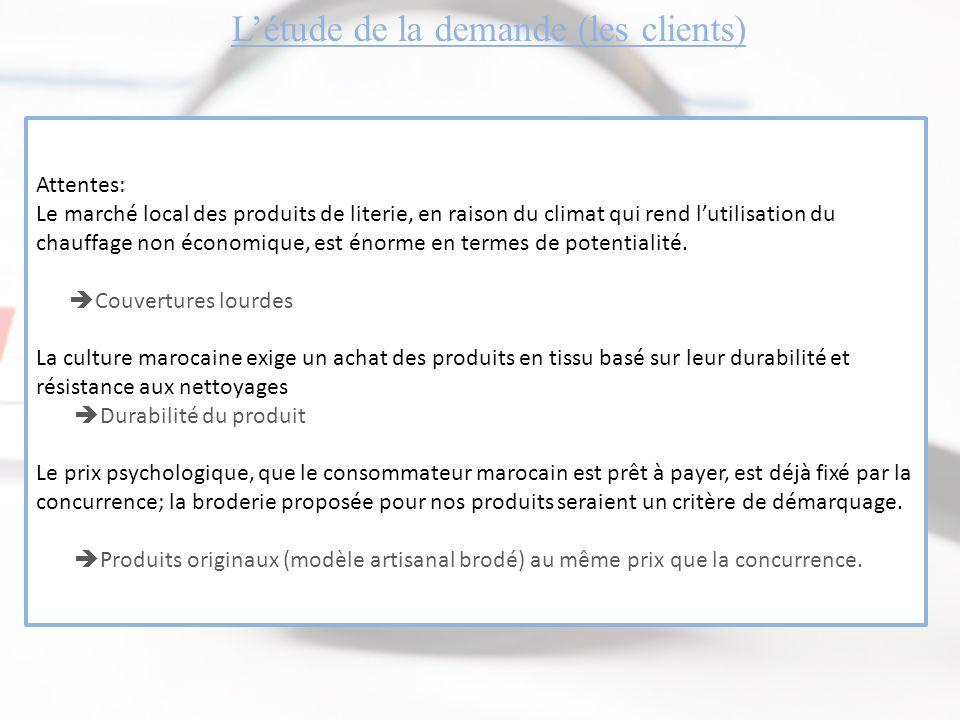 L'étude de la demande (les clients)