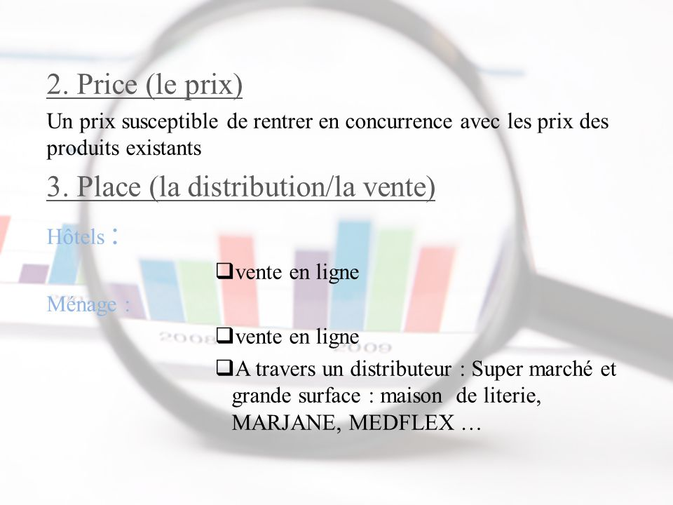 3. Place (la distribution/la vente)