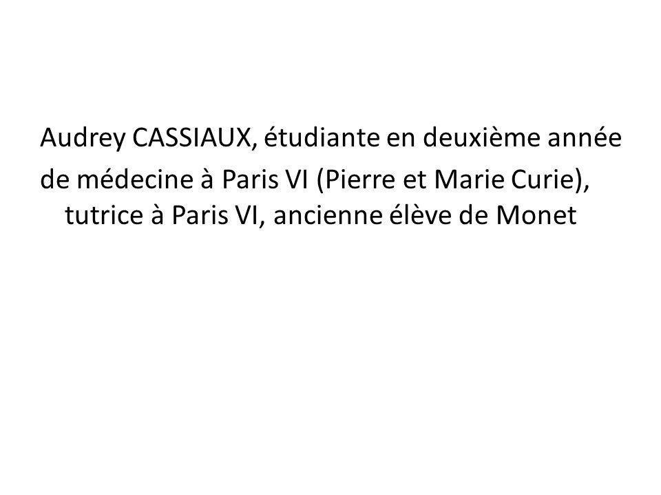 Audrey CASSIAUX, étudiante en deuxième année