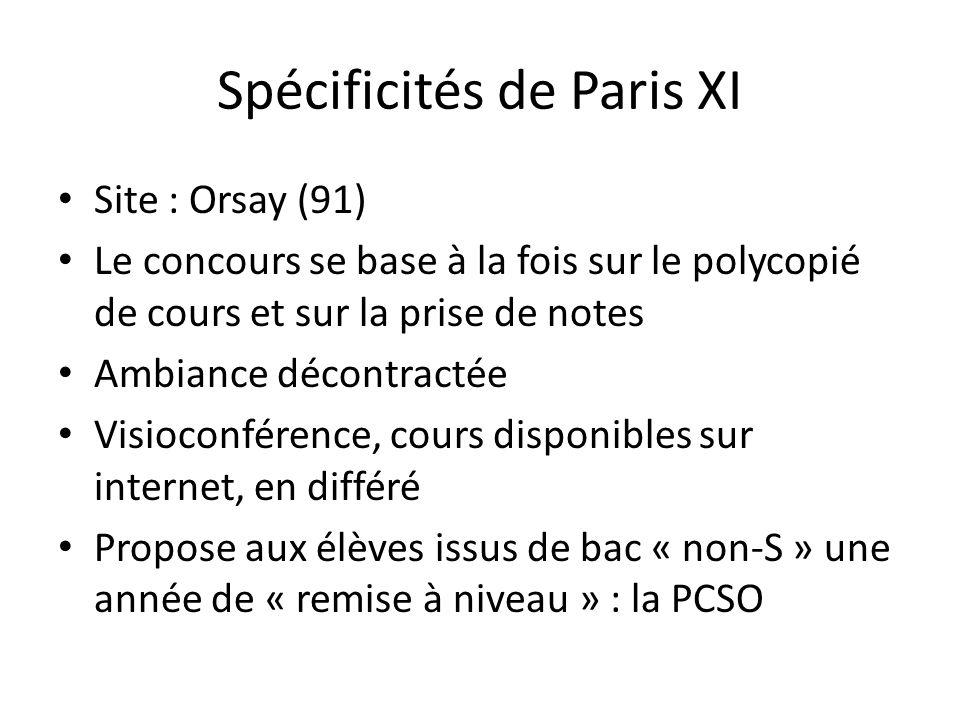 Spécificités de Paris XI