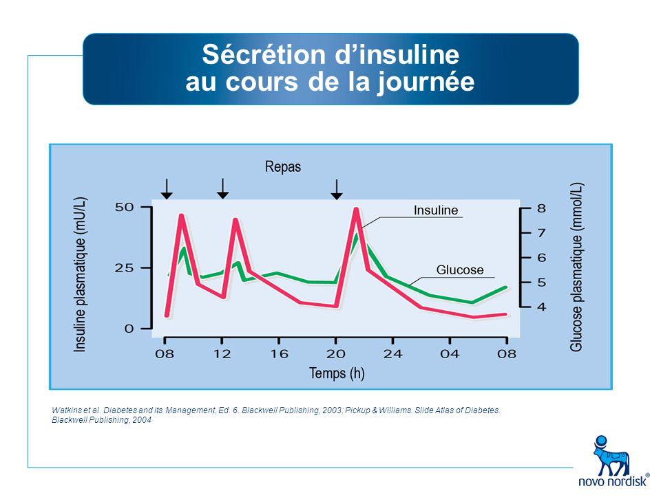 Sécrétion d'insuline au cours de la journée