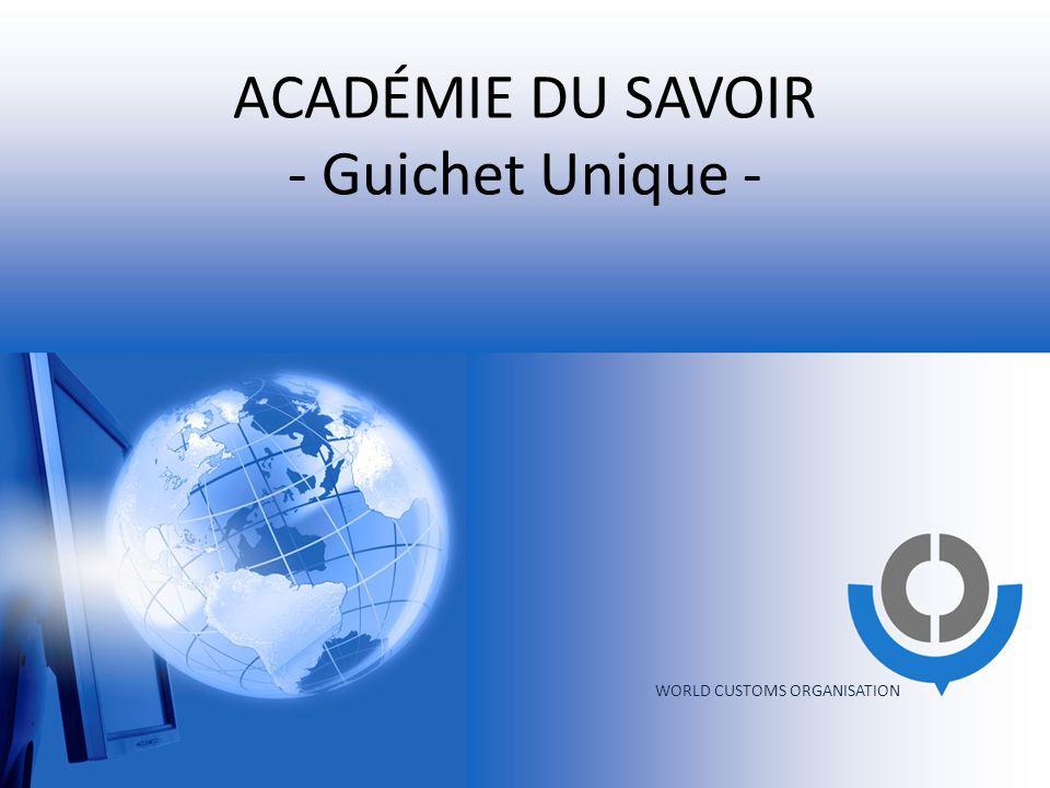 ACADÉMIE DU SAVOIR - Guichet Unique -