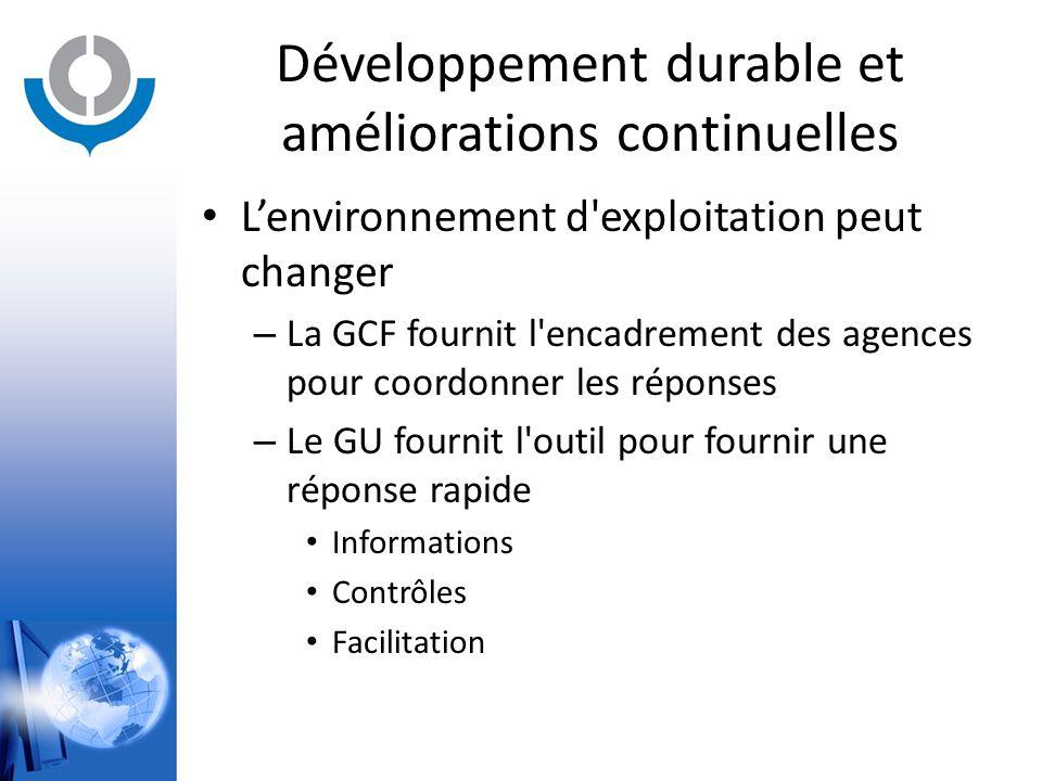 Développement durable et améliorations continuelles