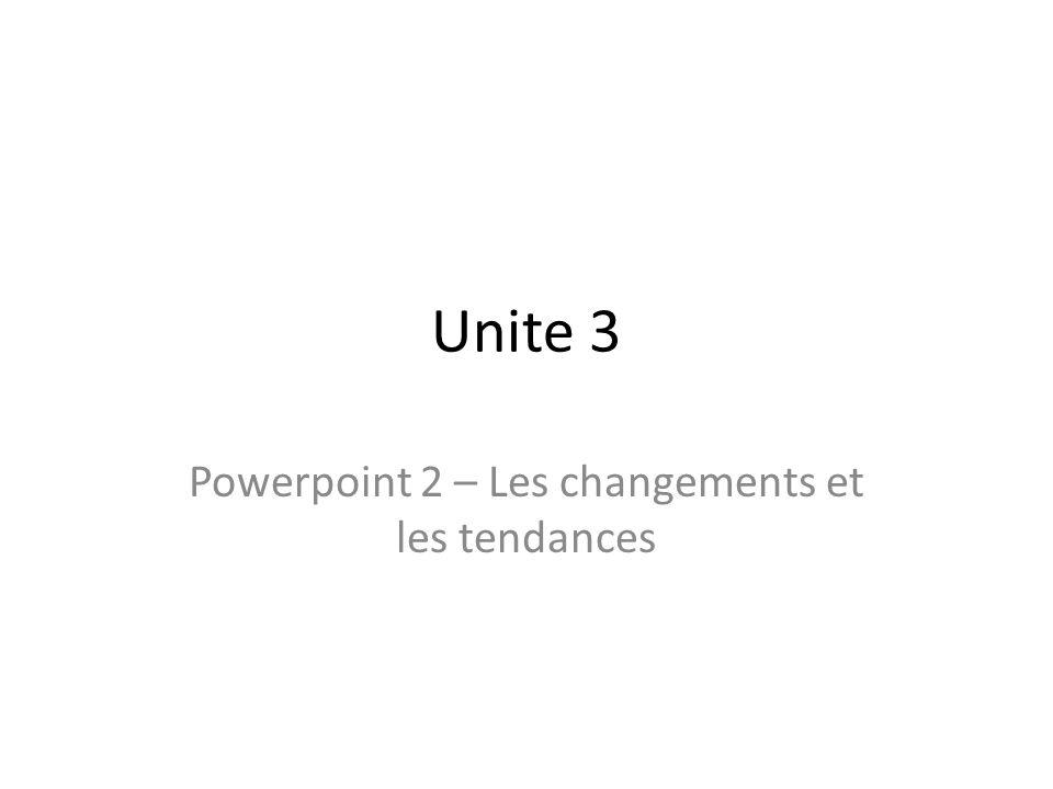 Powerpoint 2 – Les changements et les tendances