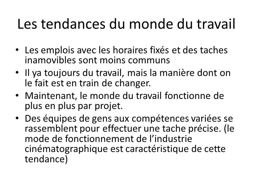 Les tendances du monde du travail
