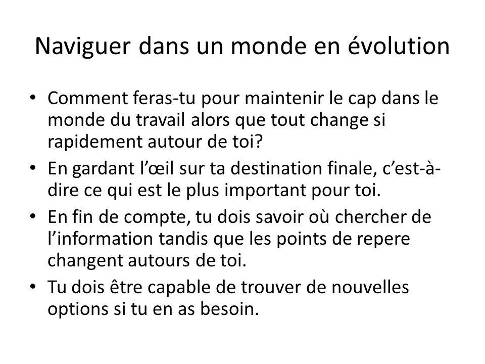 Naviguer dans un monde en évolution