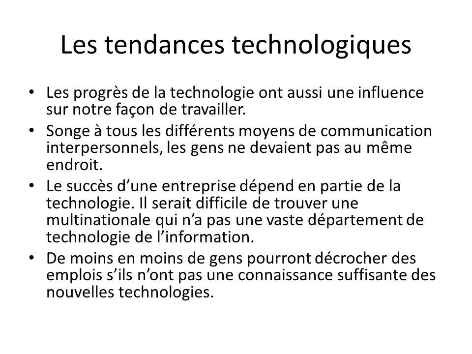 Les tendances technologiques