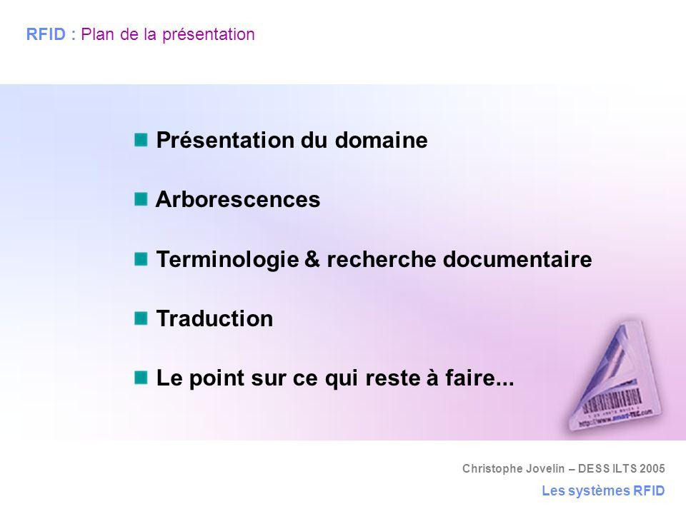 RFID : Plan de la présentation