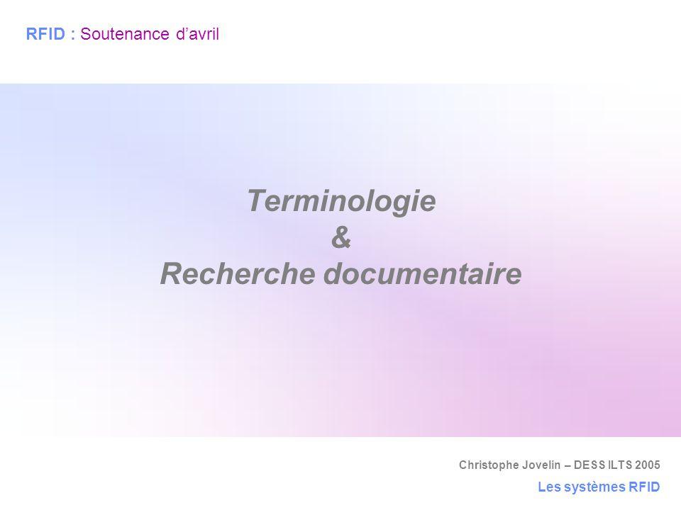 Terminologie & Recherche documentaire