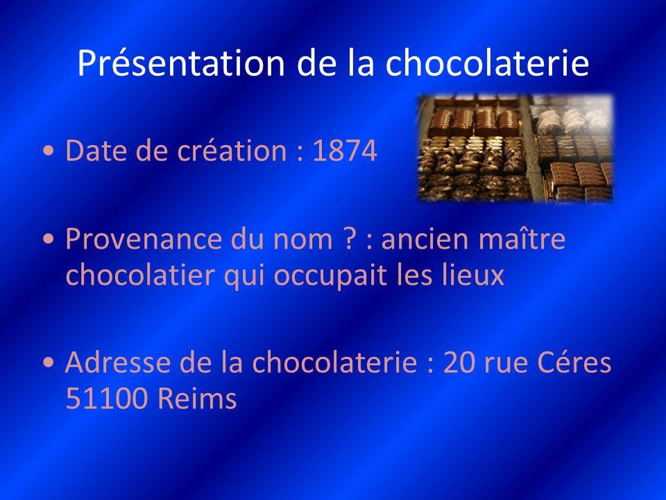 Présentation de la chocolaterie