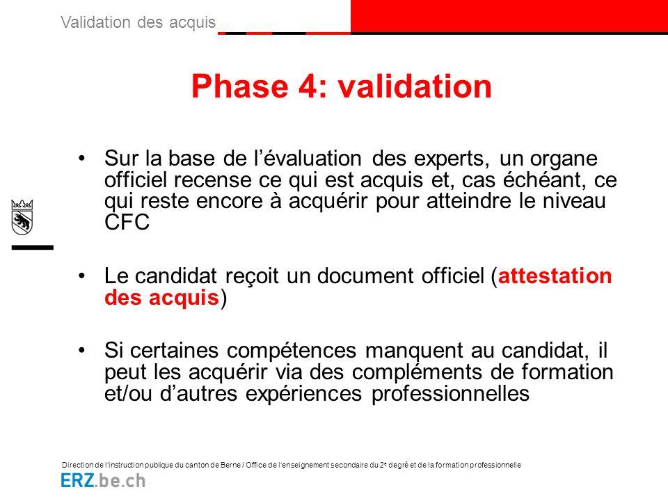 Phase 4: validation
