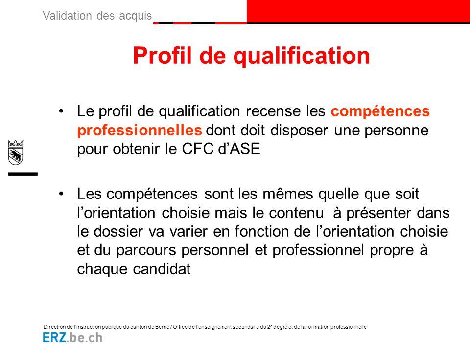 Profil de qualification