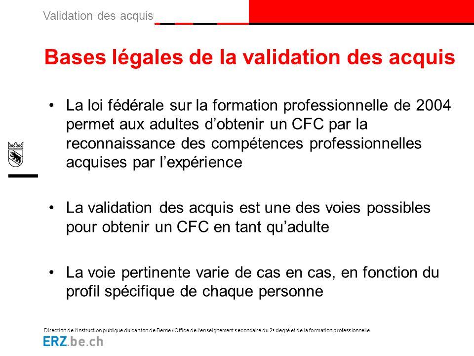 Bases légales de la validation des acquis