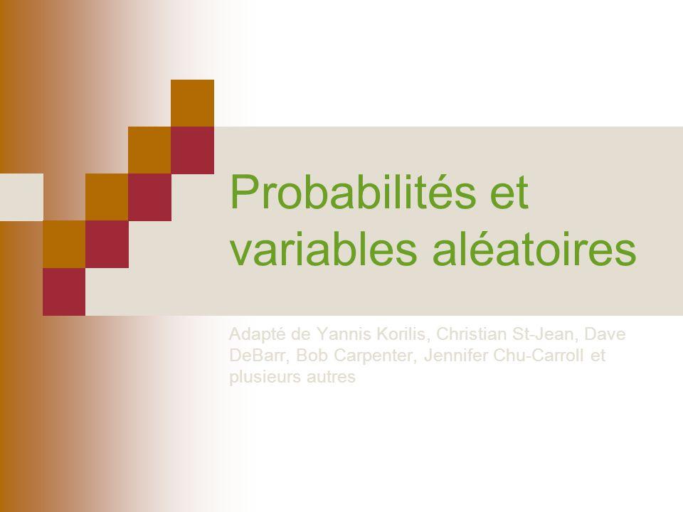 Probabilités et variables aléatoires