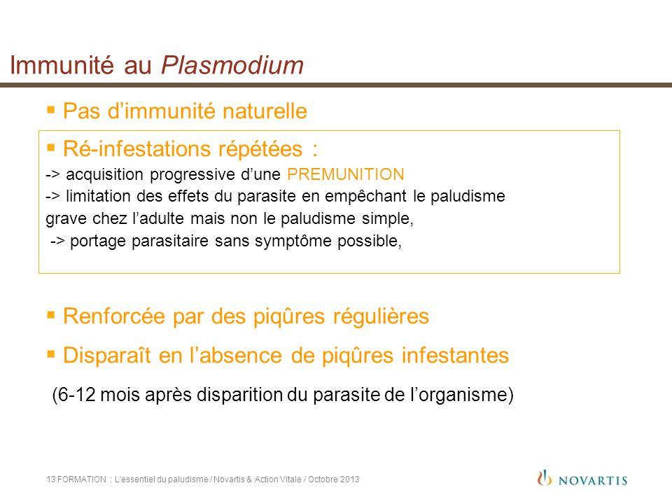 Immunité au Plasmodium