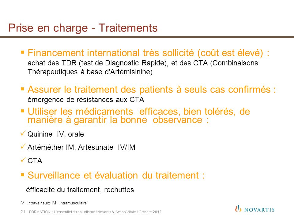 Prise en charge - Traitements
