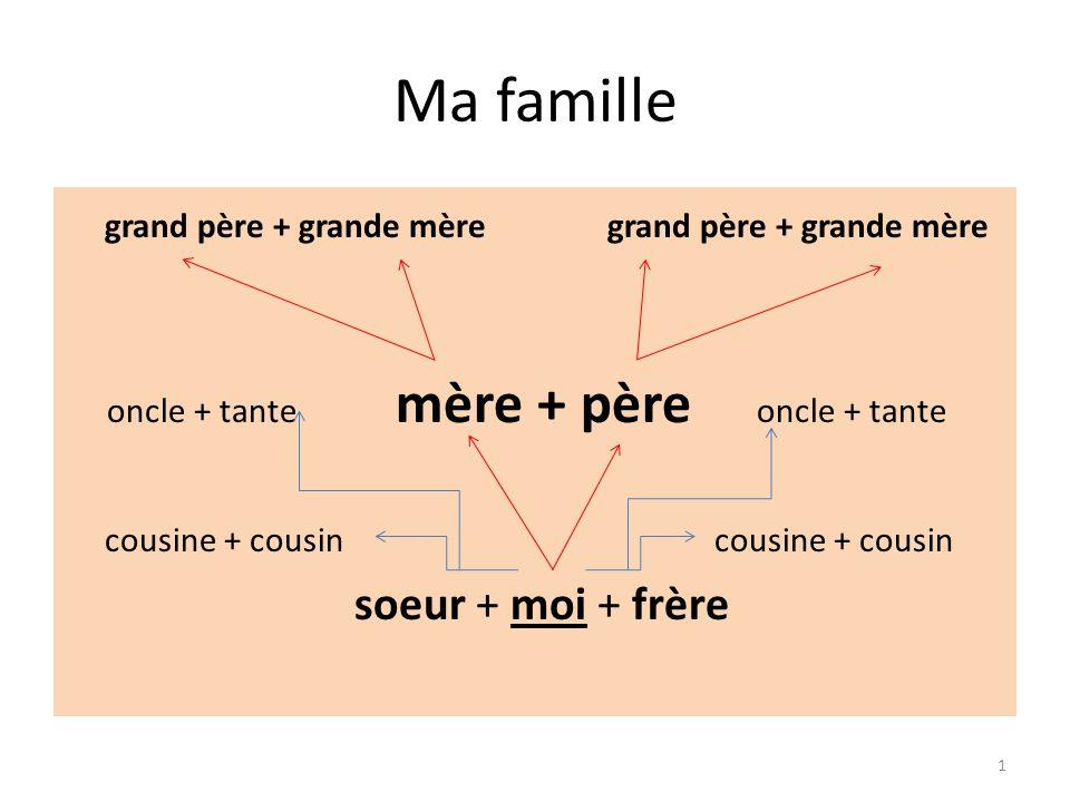 Vocabulaire Complète Ma famille - doplň (la) soeur (le) frère