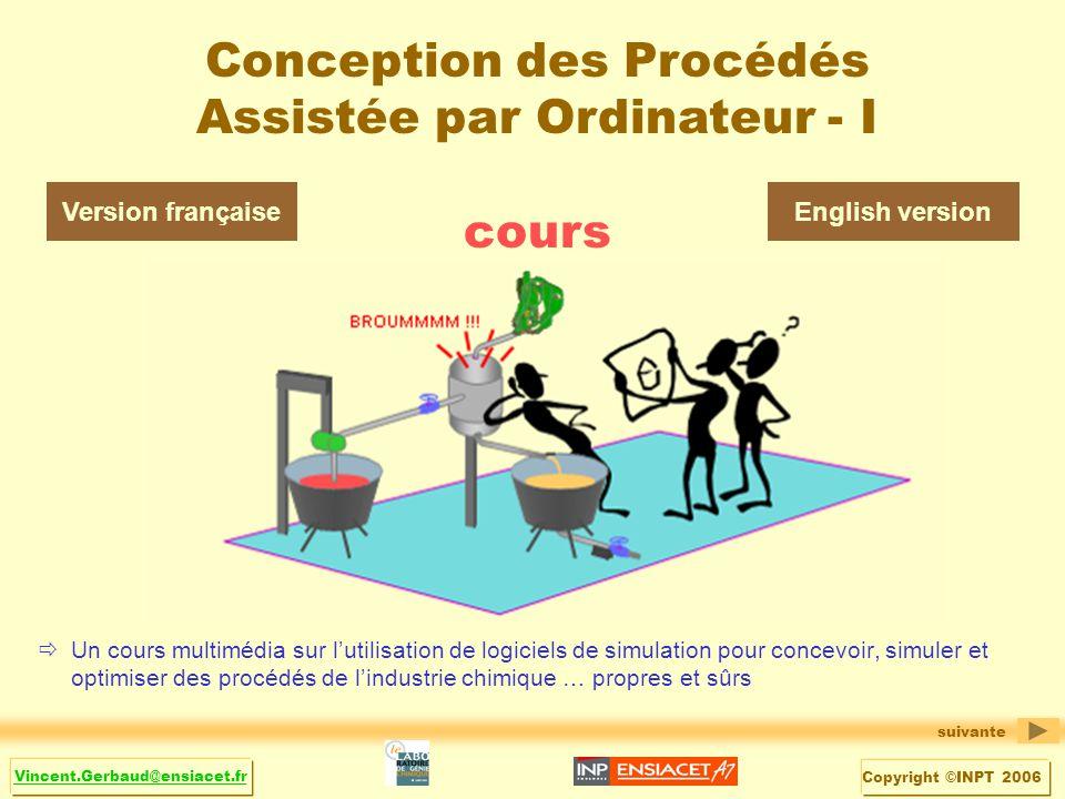 Conception des Procédés Assistée par Ordinateur - I cours