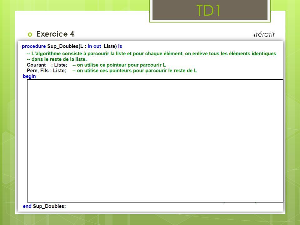 TD1 Exercice 4 itératif
