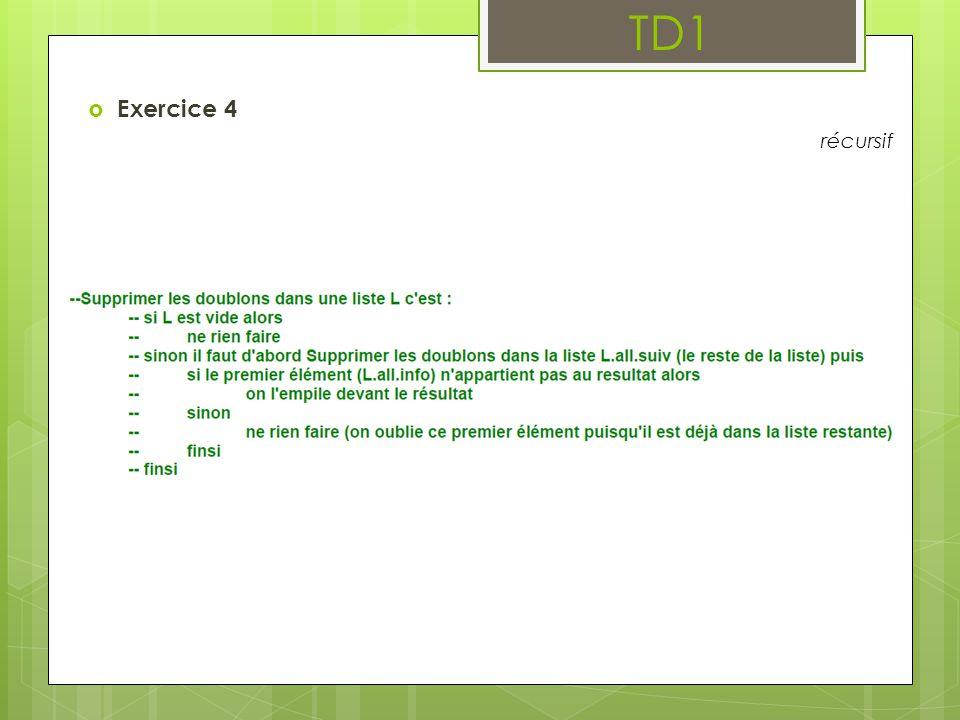 TD1 Exercice 4 récursif