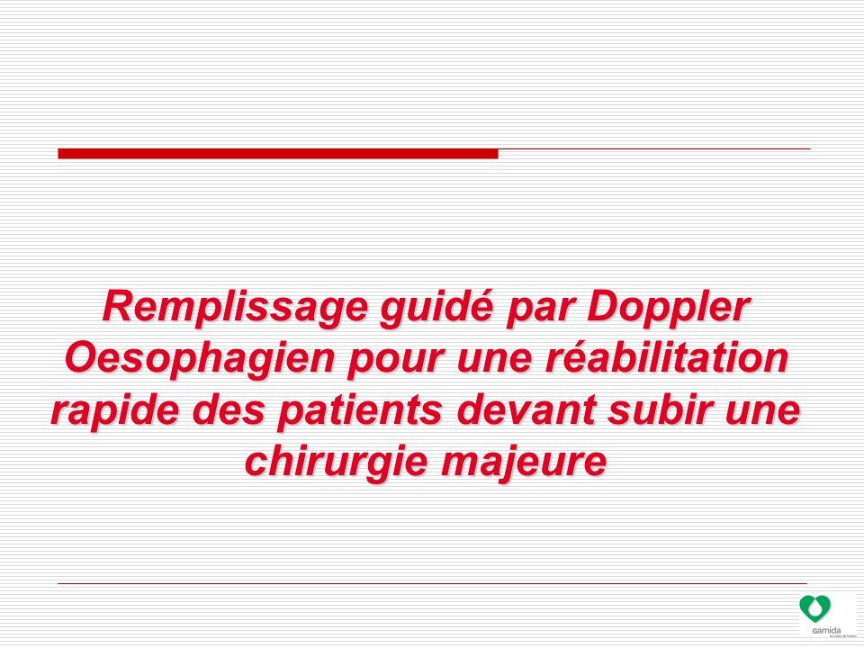Remplissage guidé par Doppler Oesophagien pour une réabilitation rapide des patients devant subir une chirurgie majeure