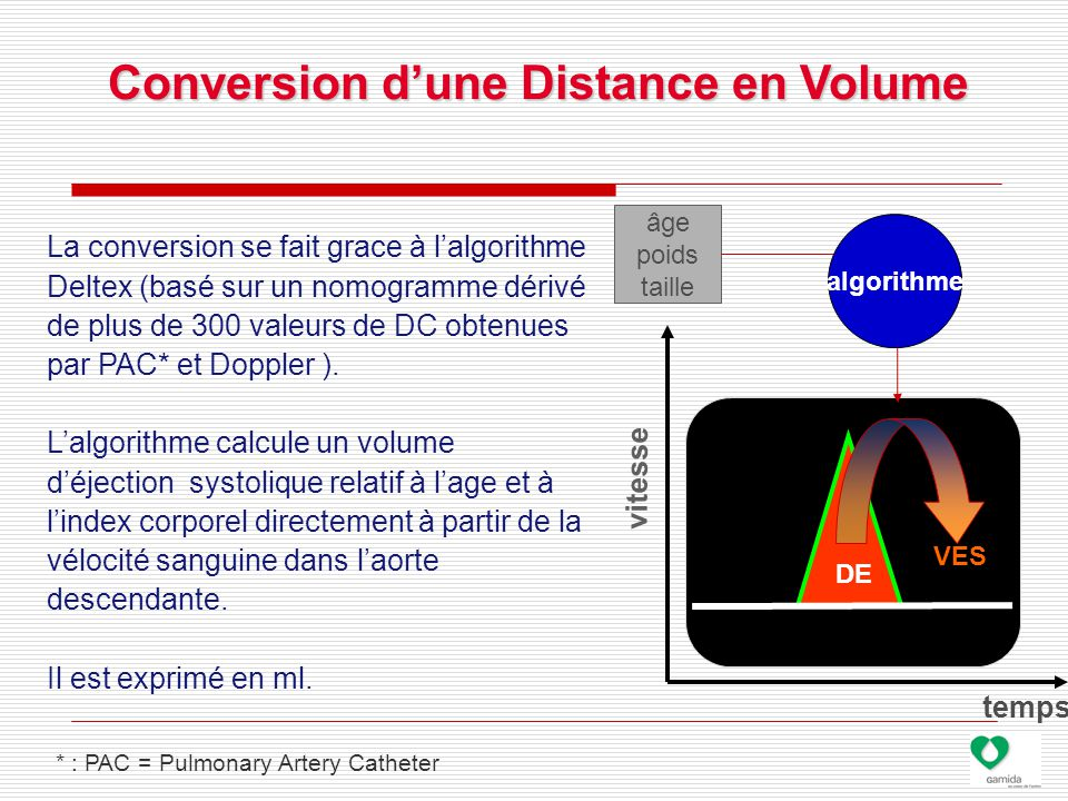 Conversion d'une Distance en Volume