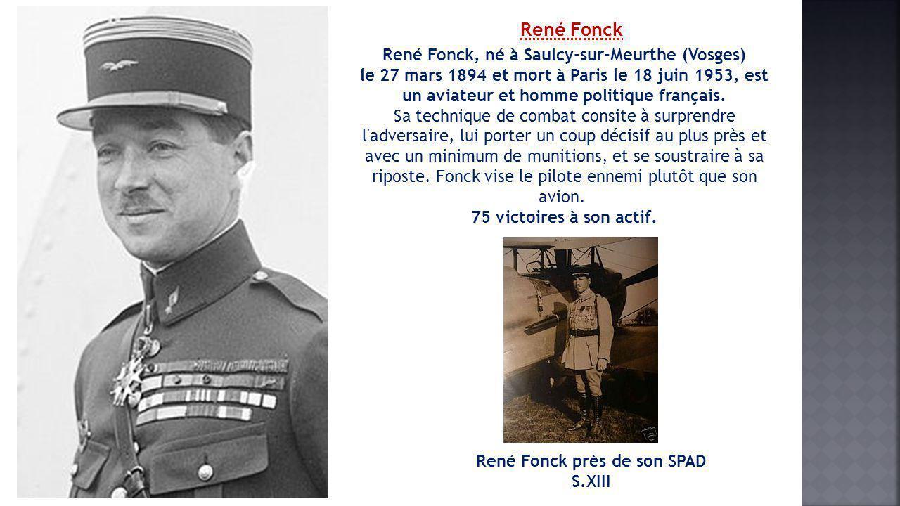 René Fonck près de son SPAD S.XIII