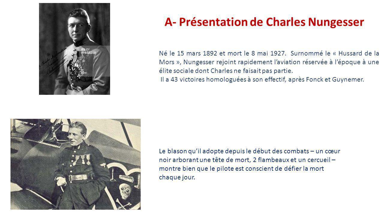 A- Présentation de Charles Nungesser