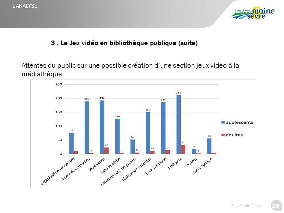 3 . Le Jeu vidéo en bibliothèque publique (suite)