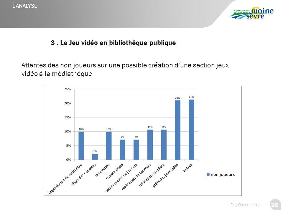 3 . Le Jeu vidéo en bibliothèque publique