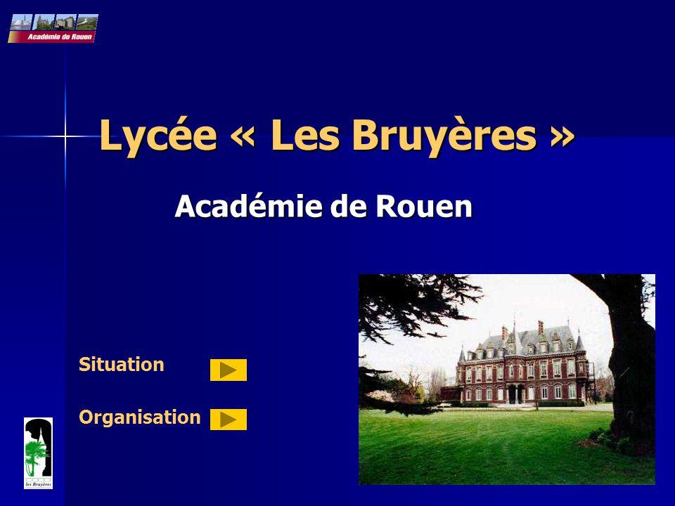 Lycée « Les Bruyères » Académie de Rouen Situation Organisation