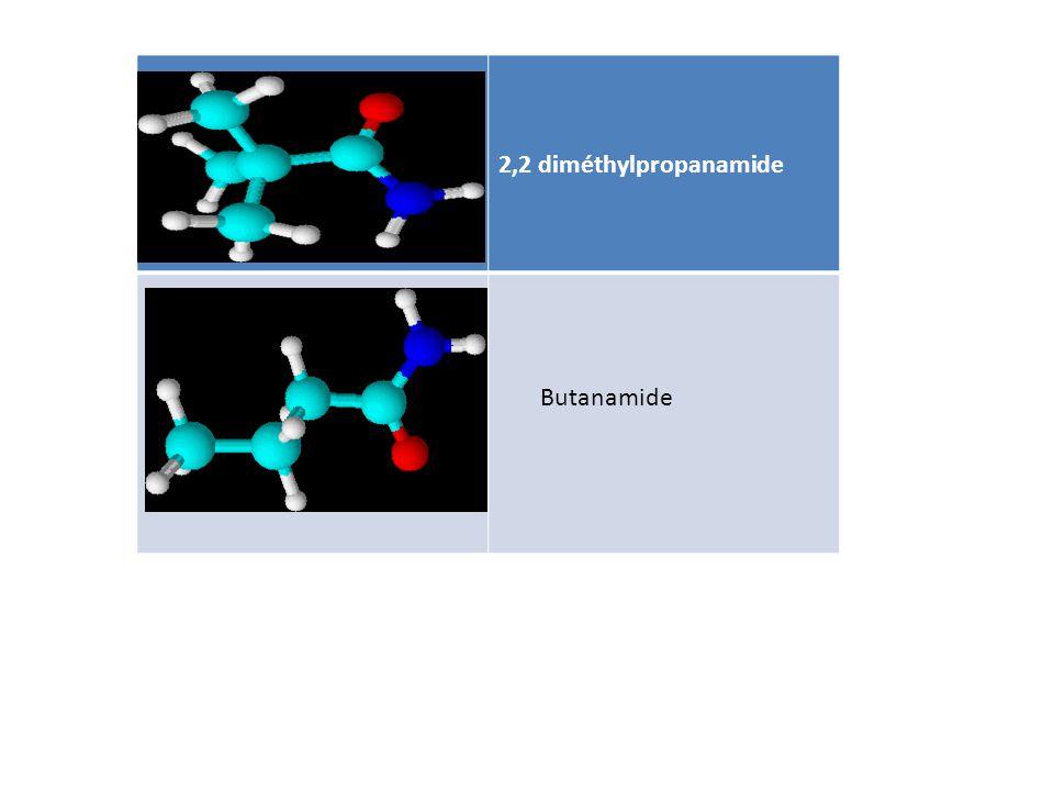 2,2 diméthylpropanamide Butanamide