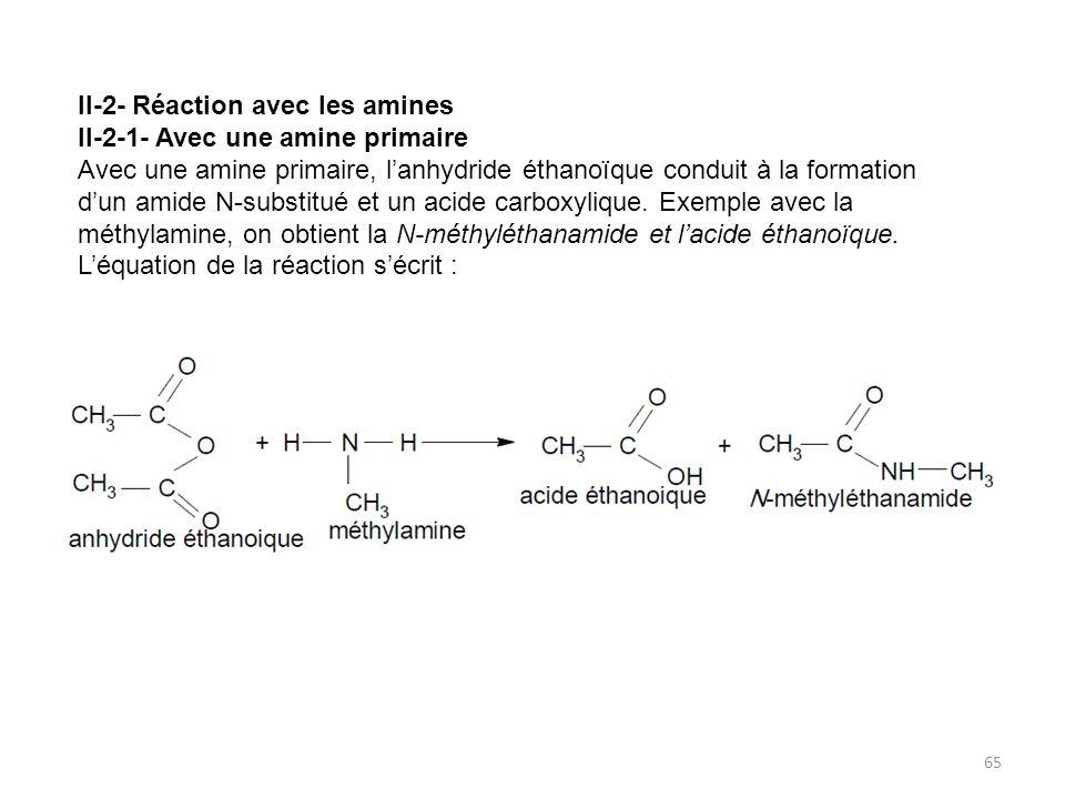 II-2- Réaction avec les amines