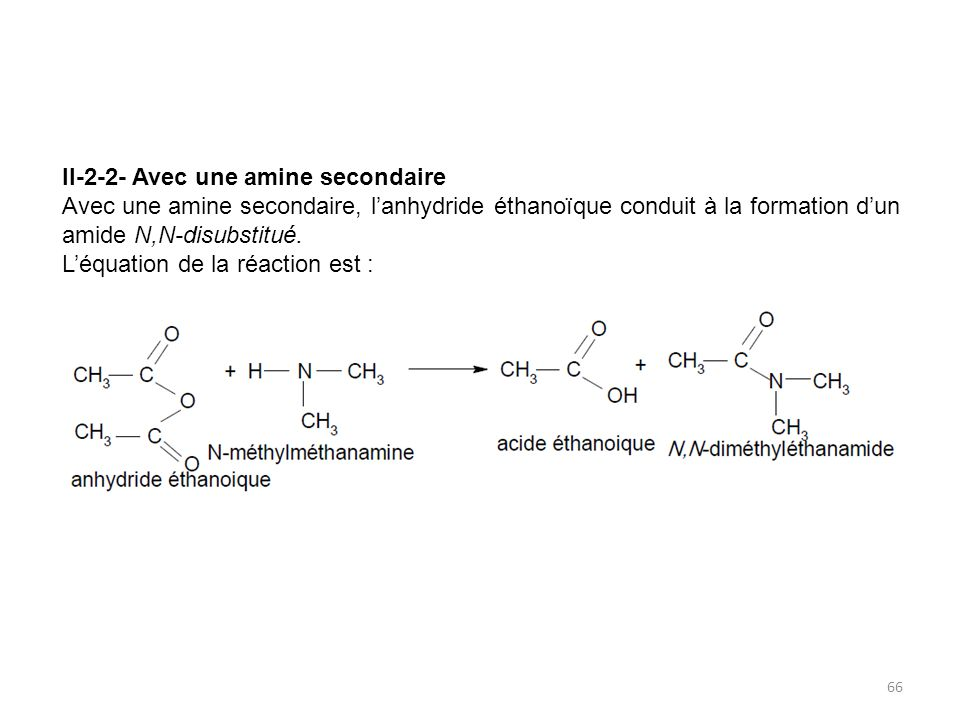 II-2-2- Avec une amine secondaire