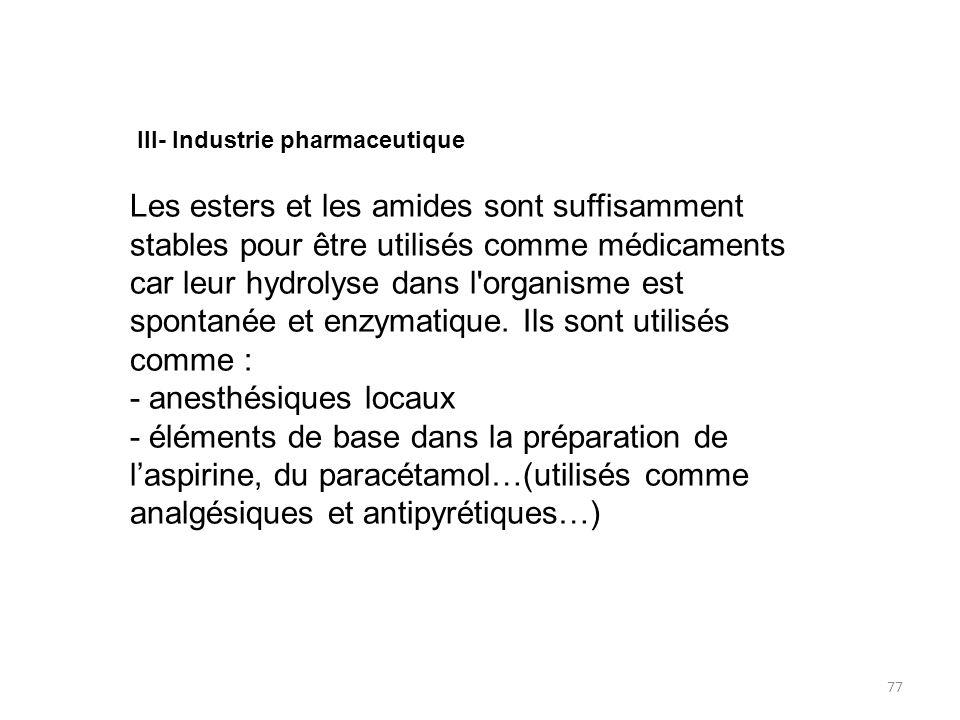 spontanée et enzymatique. Ils sont utilisés comme :