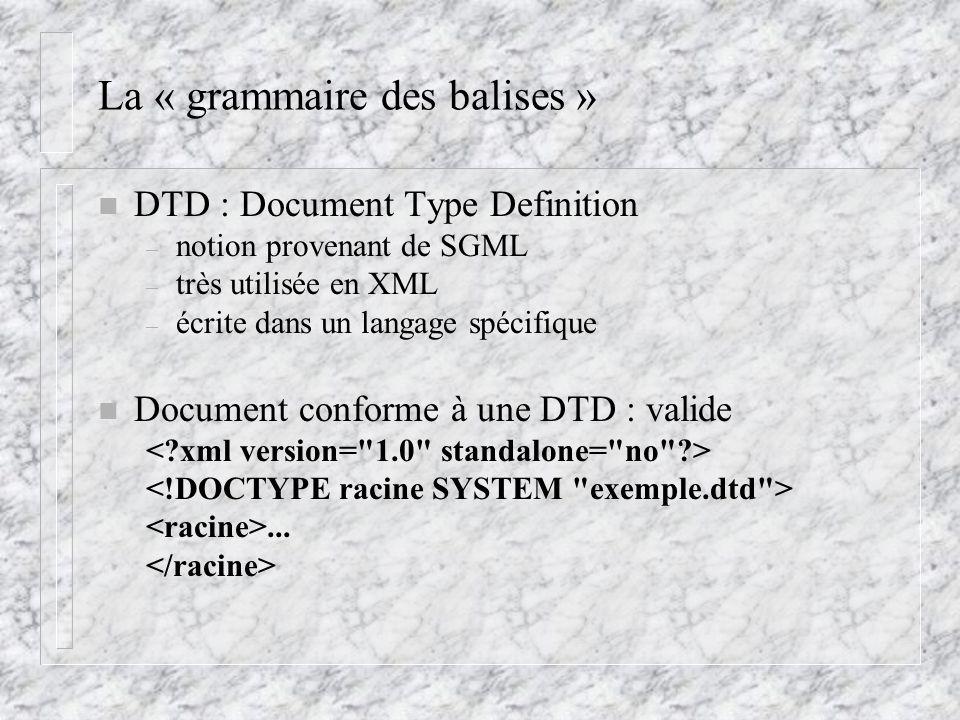 La « grammaire des balises »
