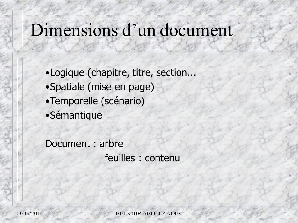 Dimensions d'un document