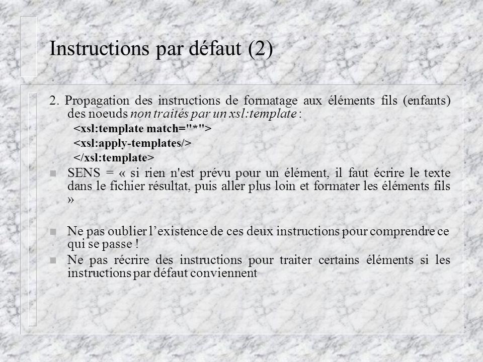 Instructions par défaut (2)