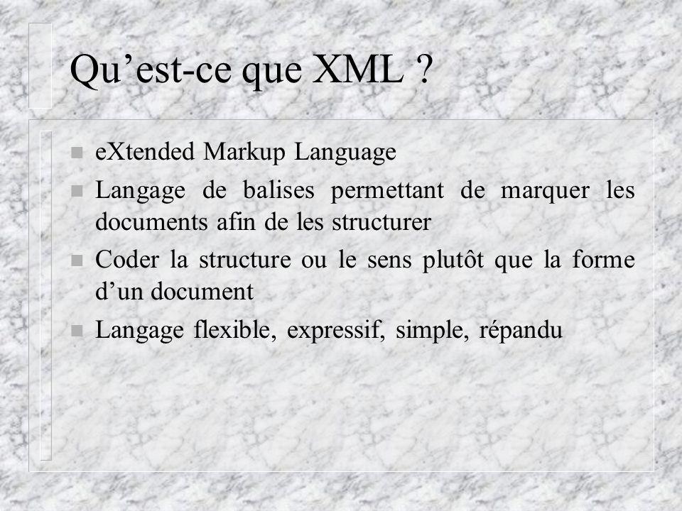 Qu'est-ce que XML eXtended Markup Language