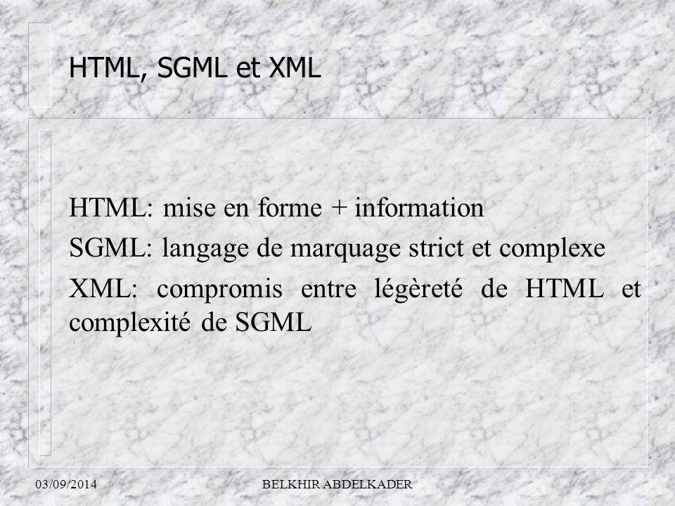 HTML: mise en forme + information