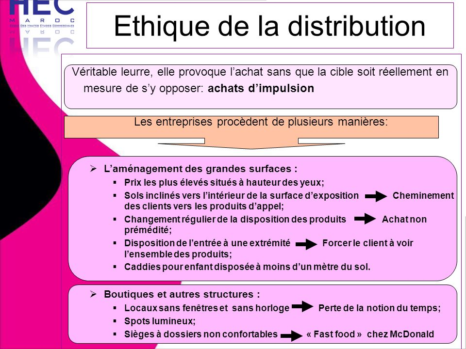 Ethique de la distribution