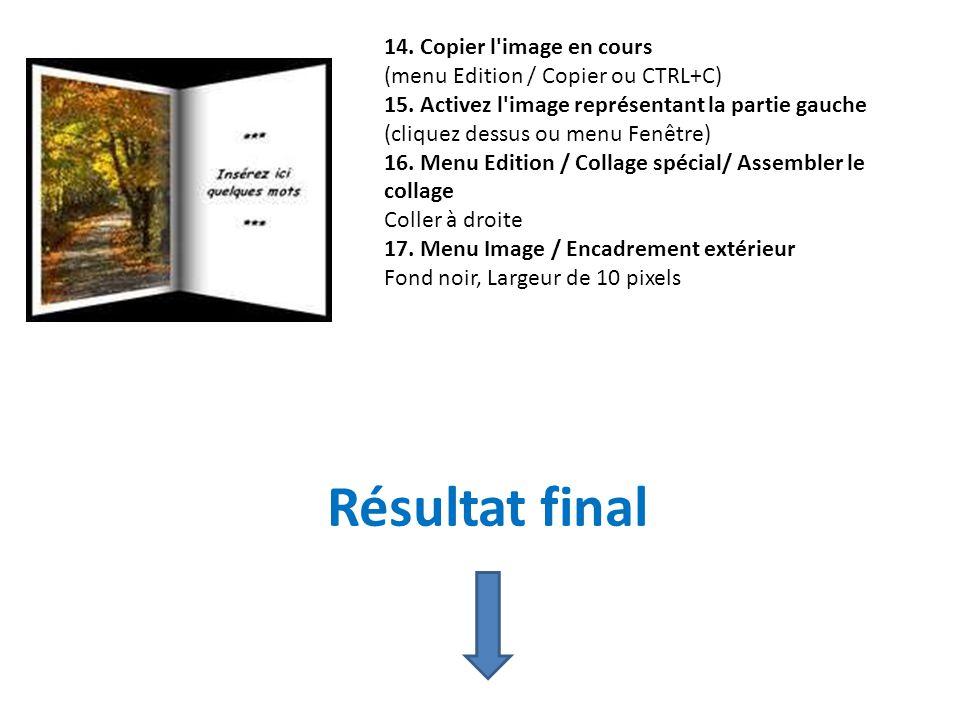 Résultat final 14. Copier l image en cours