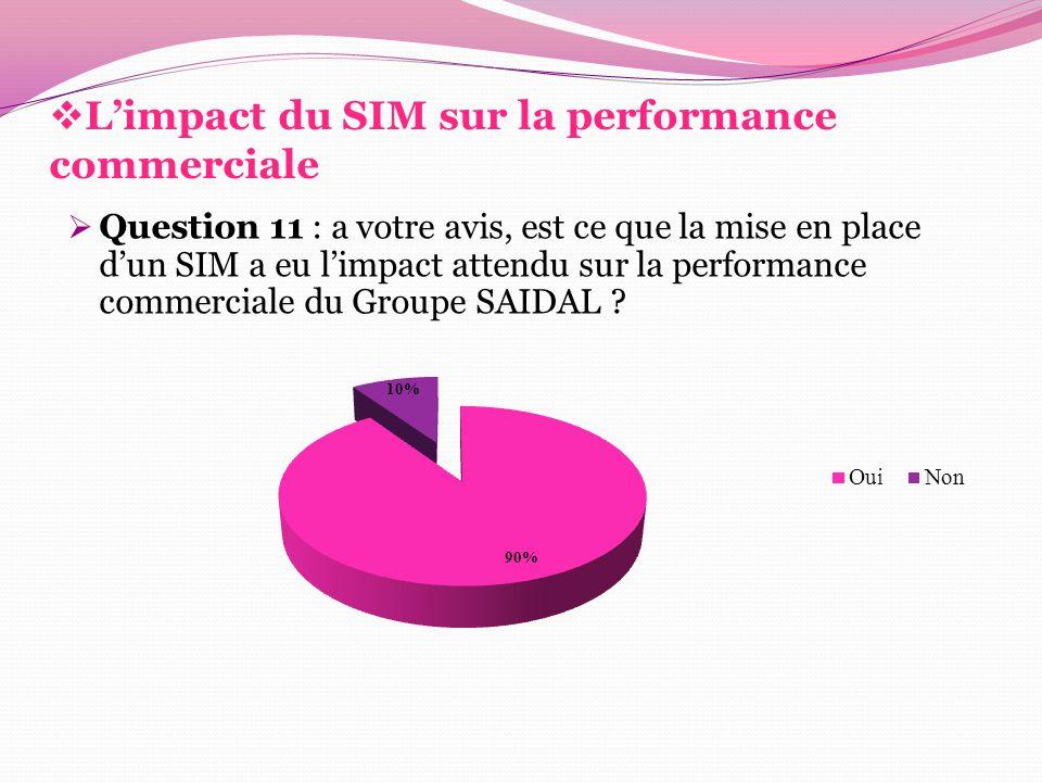 L'impact du SIM sur la performance commerciale