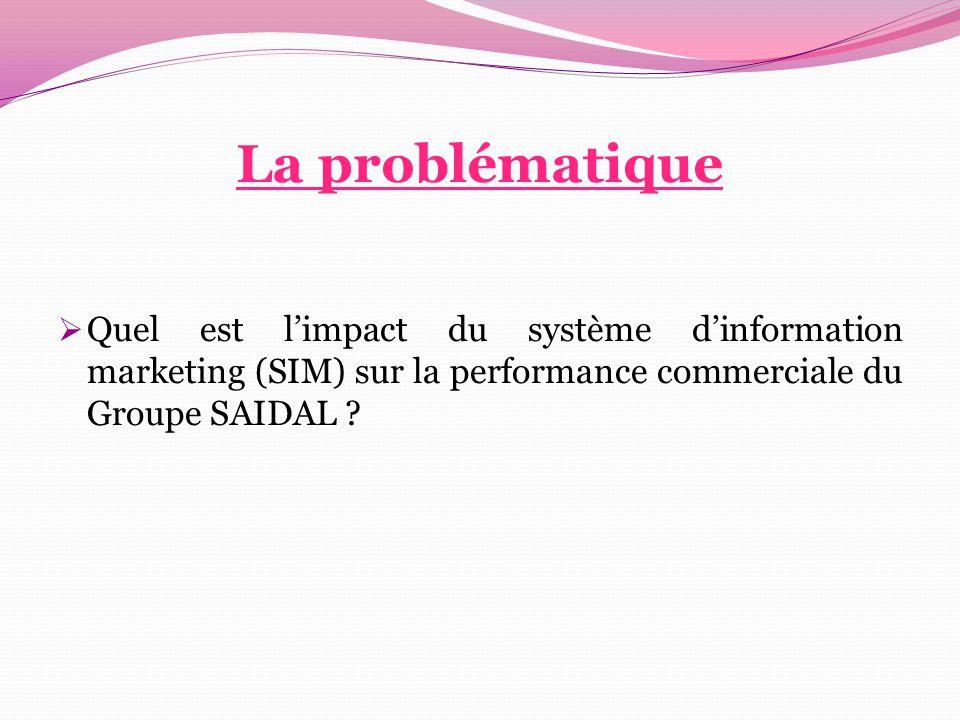 La problématique Quel est l'impact du système d'information marketing (SIM) sur la performance commerciale du Groupe SAIDAL