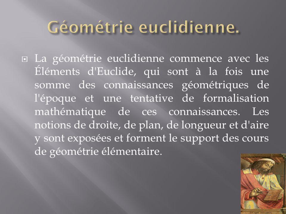 Géométrie euclidienne.