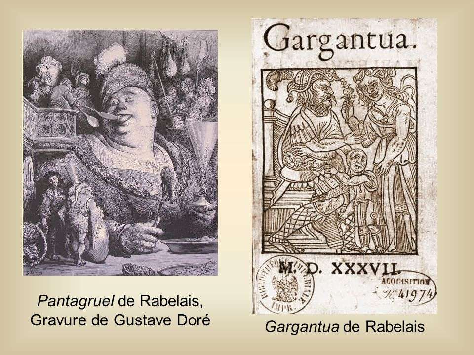 Pantagruel de Rabelais, Gravure de Gustave Doré Gargantua de Rabelais