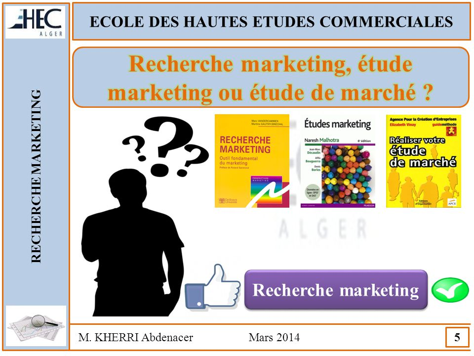 Recherche marketing, étude marketing ou étude de marché